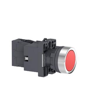 Nút nhấn nhả, 220VAC, Schneider XA2EW34M2