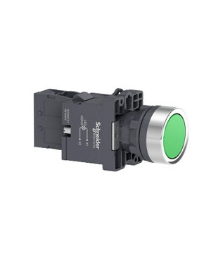 Nút nhấn nhả, 220VAC, Schneider XA2EW33M1