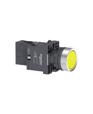 Nút nhấn nhả, 220VAC, Schneider XA2EW35M1