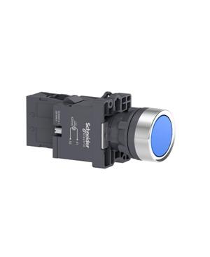 Nút nhấn nhả, 220VAC, Schneider XA2EW36M1