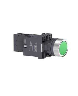 Nút nhấn nhả, 380VAC, Schneider XA2EW33Q1