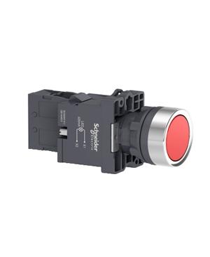 Nút nhấn nhả, 220VAC, Schneider XA2EW34M1